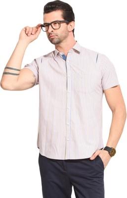 Leo Sansini Men's Striped Casual Multicolor Shirt
