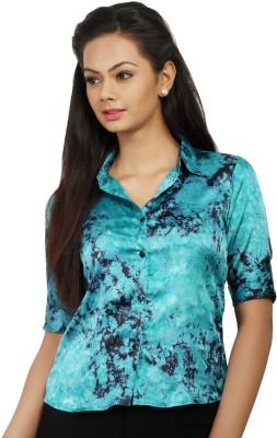 Change 360 Women's Printed Formal Multicolor Shirt