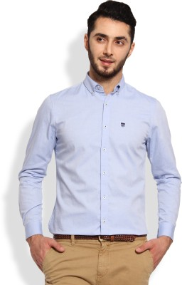 Oxford Club Men's Solid Casual Light Blue Shirt