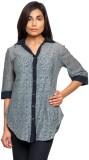 Kridh Girls Solid Casual Grey Shirt