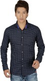 Red Touch Men's Printed Casual Blue Shir...