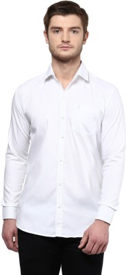 Rodamo Men,s Solid Casual White Shirt