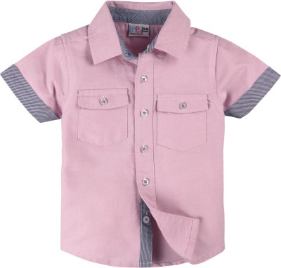 Baby Pure Baby Boy's Solid Casual Pink Shirt