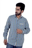Tenor Men's Checkered Casual Blue, Yello...