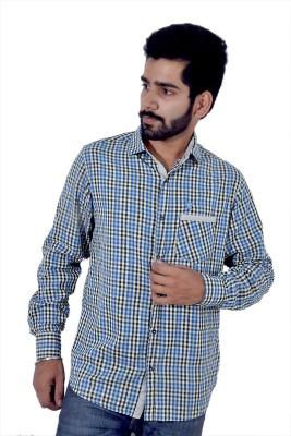 Tenor Men's Checkered Casual Blue, Yellow Shirt