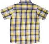 ShopperTree Boys Checkered Casual Yellow...