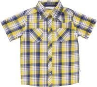 ShopperTree Boys Checkered Casual Yellow Shirt