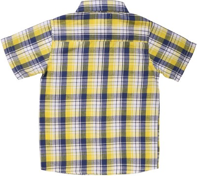 ShopperTree Boys Checkered Casual Yellow Shirt