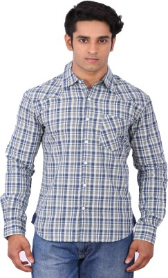 Rat Trap Men's Checkered Casual Blue Shirt