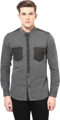 Velloche Men's Solid Casual, Festive Shirt