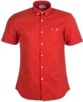 Farah Formal Shirts (Men's) - Farah Men's Solid Formal Red Shirt