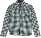 London Fog Boys Checkered Casual Green S...