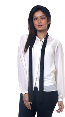 Lynda Women's Solid Casual White Shirt