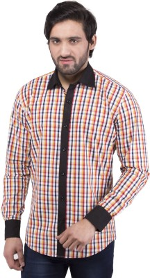 Tag & Trend Men's Checkered Casual Yellow Shirt