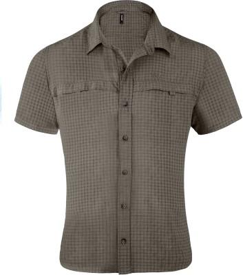 Wildcraft Men's Checkered Casual Brown Shirt