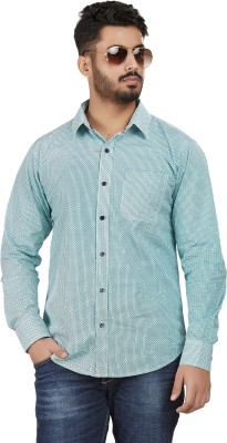 Defossile Men's Printed Casual Multicolor Shirt