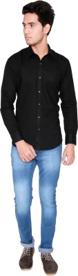 Shreebalajitraders Men's Solid Casual Black Shirt