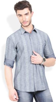 Bay Ridge Men's Printed Casual Grey Shirt