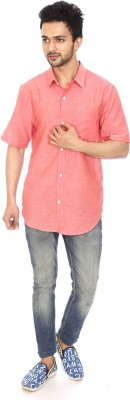 Kalaa Men's Solid Casual Red Shirt