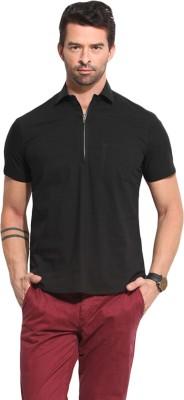 Leo Sansini Men's Solid Casual Black Shirt