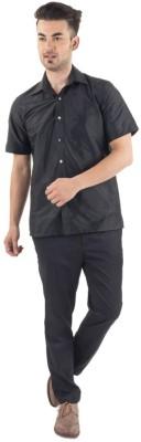 Scot Wilson Men's Solid Casual Black Shirt