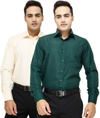 Vkg Men's Solid Formal Multicolor Shirt
