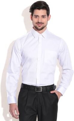SG Apparels Men's Solid Formal White Shirt