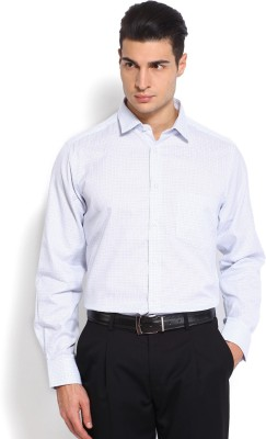 Nord51 Men's Checkered Formal Blue, White Shirt