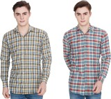 Winsome Deal Men's Checkered Casual Mult...