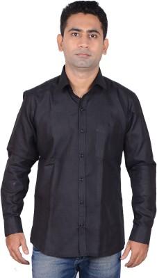 Aces Blue Men's Solid Formal Black Shirt