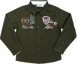 ShopperTree Boys Solid Casual Black Shir...