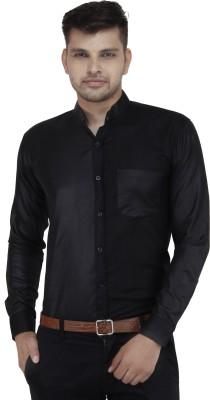 Cotton Clubs Men's Solid Formal Black Shirt