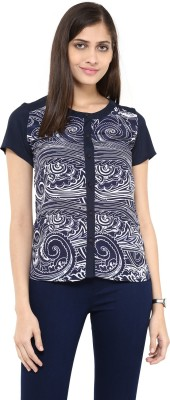 AR2 Women's Printed Casual Blue Shirt
