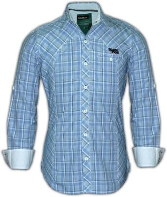 Blacksoul Men's Checkered Casual Blue Shirt
