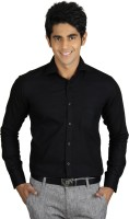 Nexq Formal Shirts (Men's) - Nexq Men's Solid Formal Linen Black Shirt