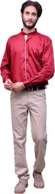Change 360 Men's Solid Casual Maroon Shirt