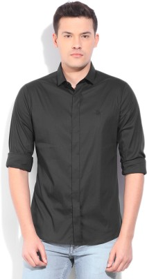 United Colors of Benetton Mens Casual Black Shirt