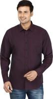 Le Luxe Formal Shirts (Men's) - Le Luxe Men's Solid Formal Purple Shirt