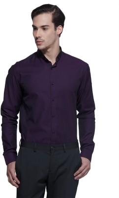 Karsci Men's Self Design Casual Purple Shirt