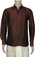 Mark Anderson Formal Shirts (Men's) - Mark Anderson Men's Solid Formal Maroon Shirt