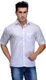TSX Men's Solid Casual White Shirt