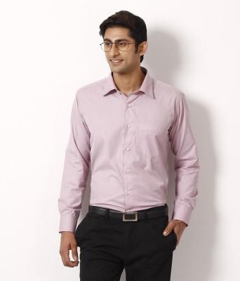 Aries Men's Solid Formal Brown Shirt