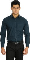 C N B Formal Shirts (Men's) - C n B Men's Solid Formal Blue Shirt