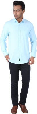 Tasho Zaara Men,s Solid Casual Light Blue Shirt