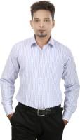 Bellavita Formal Shirts (Men's) - Bellavita Men's Checkered Formal Blue Shirt