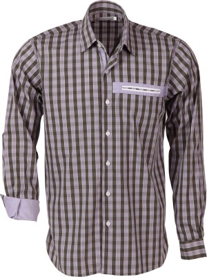 Roar and Growl Men,s Checkered Formal Multicolor Shirt