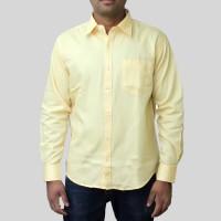 Spark Formal Shirts (Men's) - Spark Men's Solid Formal Yellow Shirt
