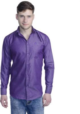 Aligatorr Men's Solid Formal Purple Shirt