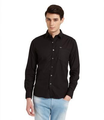Flying Machine Men's Solid Casual Black Shirt