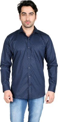 Being Friends Men's Printed Casual Blue Shirt